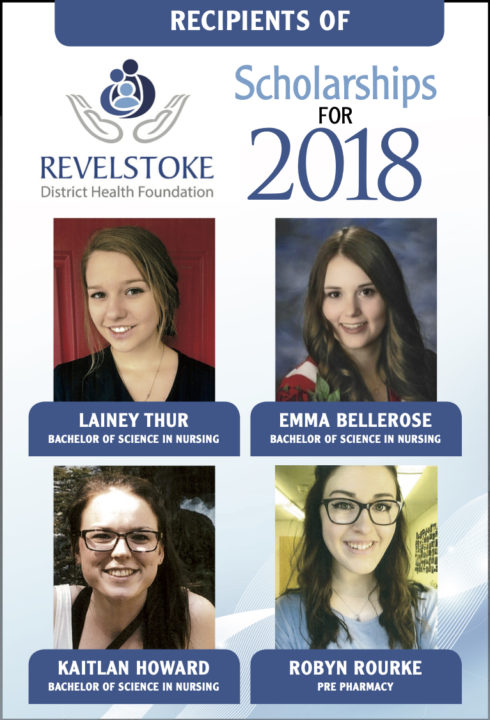 2018 Revelstoke and District Health Foundation Scholarships