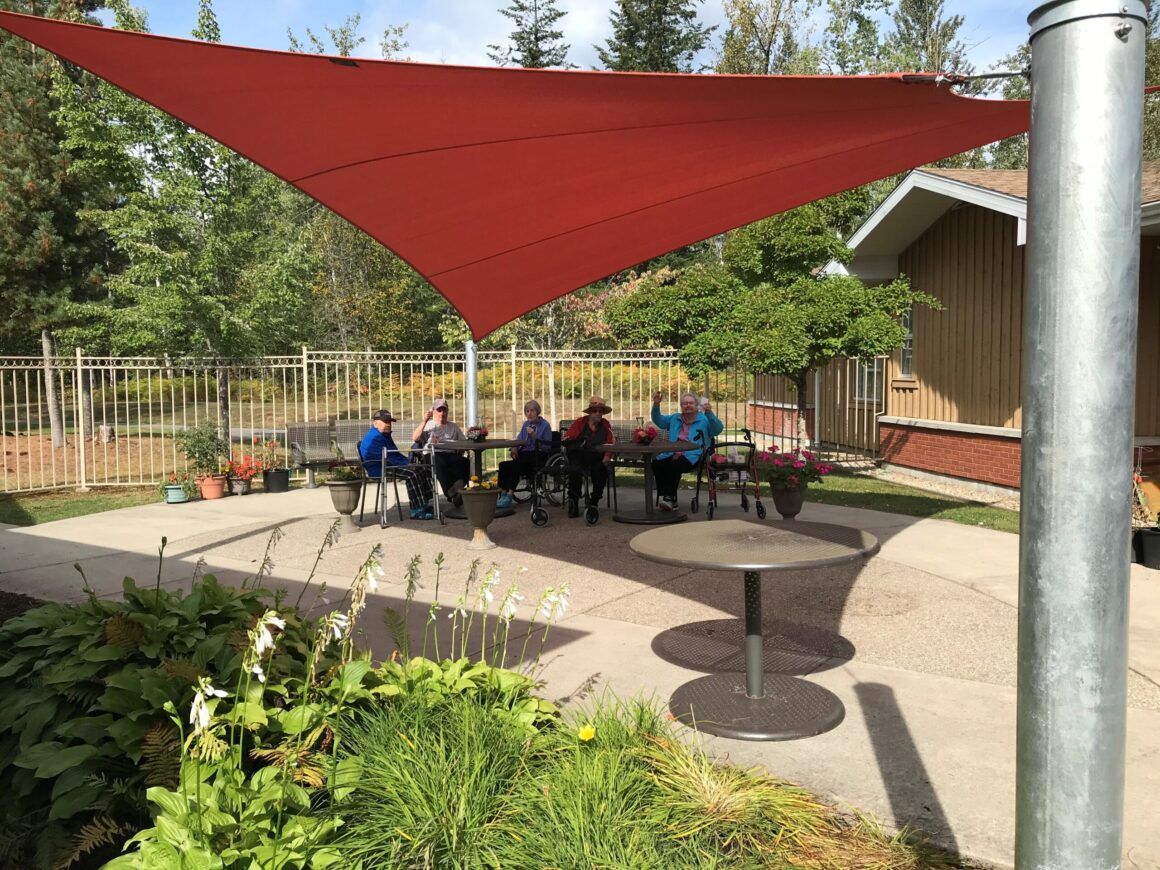 New Shade Sail for Mt Cartier Court, Revelstoke